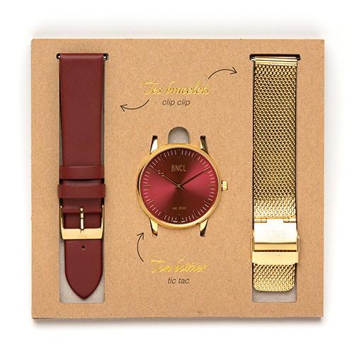 Or - Rouge : Bordeaux - Or métal